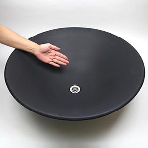 黒マットソリ型(特大)手洗い鉢【大型サイズ】信楽焼き手洗器!陶器の洗面ボウル[tr-4097]