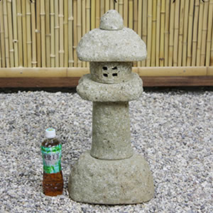19号岩石春日灯籠(とうろう) 信楽焼き燈籠[ok-0045]