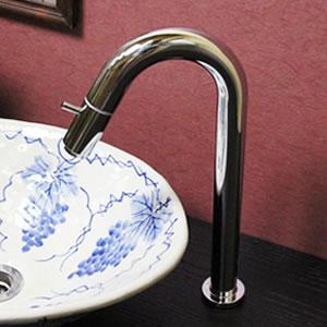 立ち水栓 【手洗い鉢用の立水栓/単水栓】[se-0001]