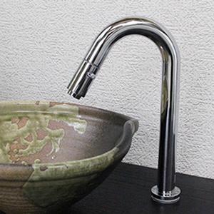 立ち水栓 【手洗い鉢用の立水栓/単水栓】[se-0010]
