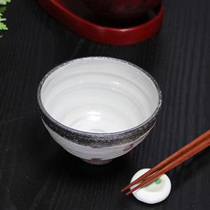 信楽焼き飯碗!天の川(赤)めし碗!土のぬくもりあるご飯茶わんです。[w910-02]