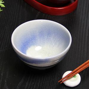 信楽焼き飯碗!ブルーベリーめし碗!土のぬくもりあるご飯茶わんです。[w909-13]