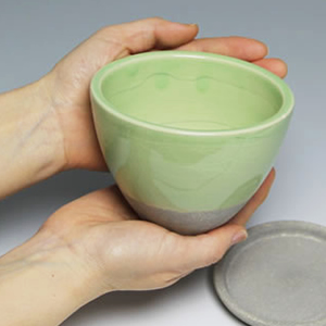 信楽焼ルリハポット!山草鉢、サボテン鉢などお好みに合わせてお使いください。[sa-2-1]
