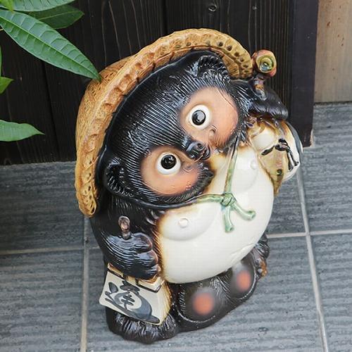 13号福たぬき 信楽焼き狸 陶器タヌキ [ta-0279]