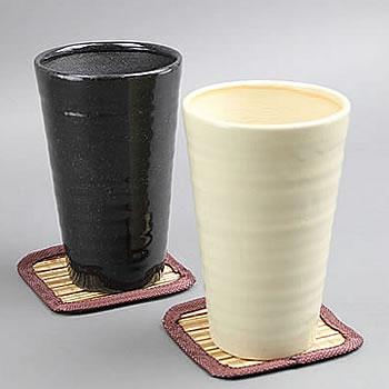 信楽焼き うま泡ビアカップ(w602-31)