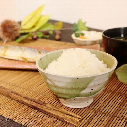 信楽焼 緑光飯碗(小) w310-02
