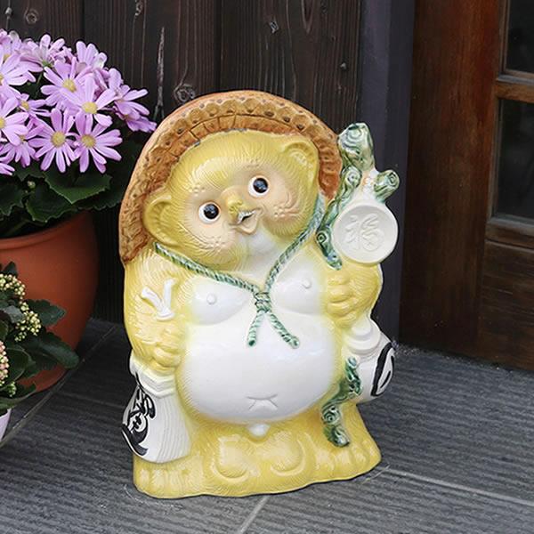 信楽焼 たぬき 13号福ひねりタヌキ 陶器タヌキ たぬき置物 狸 信楽 たぬき陶器 やきもの しがらき 信楽 陶器狸