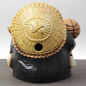 信楽焼きたぬき 9号バスケットボール持ち狸 陶器タヌキ[ta-0170]