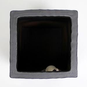信楽焼きかさたて 小窓ねこ角型傘立て 陶器[kt-0259]