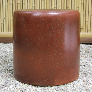 15号火色斑点ガーデンテーブルセット 陶器のテーブルセット 信楽焼き【3点セット】[te-0044]