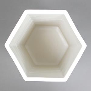信楽焼きかさたて ホワイトマット六角傘立て 陶器[kt-0264]