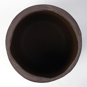信楽焼きかさたて 灰釉コゲひねり傘立て 陶器[kt-0173]