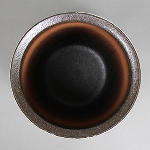信楽焼きかさたて チョコライン傘立て 陶器[kt-0269]