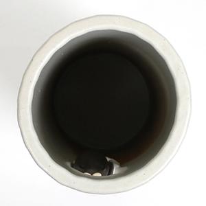 信楽焼きかさたて 小窓黒猫傘立て 陶器[kt-0263]