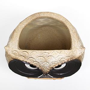 信楽焼きかさたて 福多郎(表札付き) 陶器傘立て[kt-0110]