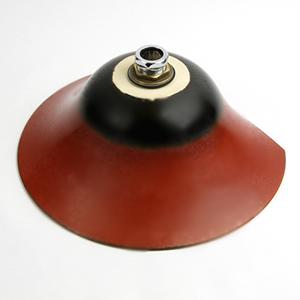 鉄赤半円型手洗い鉢【小型サイズ】信楽焼き手洗器!陶器の手水鉢[tr-2038]