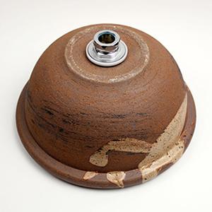 紅ハケメ手洗い鉢【小型サイズ】信楽焼き手洗器!陶器の手水鉢[tr-2088]