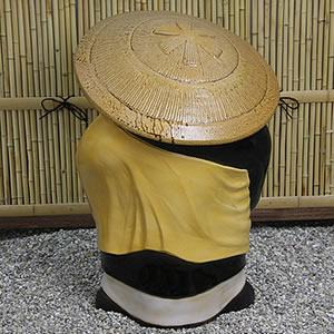 信楽焼きたぬき お坊さん狸特大 (和尚たぬき) 鉄鉢型 陶器タヌキ[ta-0102]