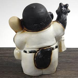 信楽焼きたぬき 野球狸 陶器タヌキ[ta-0104]