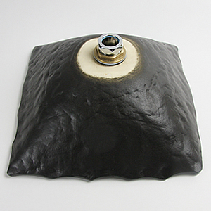 黒マット角型手洗い鉢【小型サイズ】信楽焼き手洗器!陶器の手水鉢[tr-2159]
