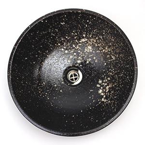 茶窯変手洗い鉢【小型サイズ】信楽焼き手洗器!陶器の手水鉢[tr-2203]