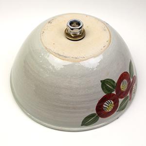 椿絵手洗い鉢【小型サイズ】信楽焼き手洗器!陶器の手水鉢[tr-2192]