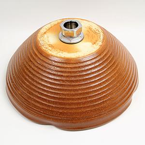 火色変形手洗い鉢【小型サイズ】信楽焼き手洗器!陶器の手水鉢[tr-2055]