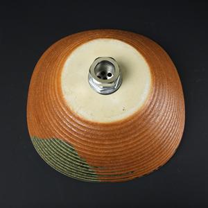 火色ビードロたわみ手洗い鉢【小型サイズ】信楽焼き手洗器!陶器の手水鉢[tr-2097]