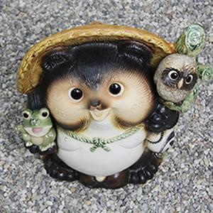 信楽焼きたぬき 13号満願成就狸 陶器タヌキ[ta-0080]