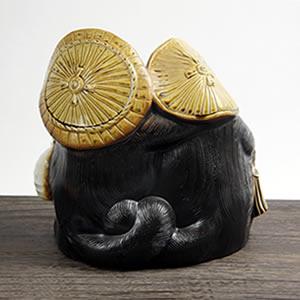 信楽焼きたぬき ファミリー狸 陶器タヌキ[ta-0016]