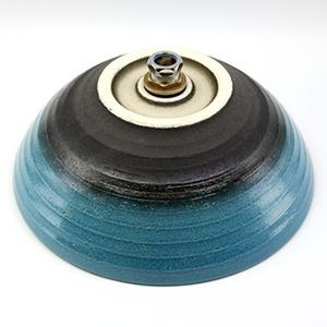 ブルービードロ手洗い鉢【中型サイズ】信楽焼き手洗器!陶器の手水鉢[tr-3197]