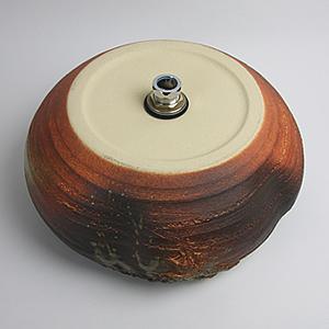 火色窯肌手洗い鉢【中型サイズ】信楽焼き手洗器!陶器の手水鉢[tr-3152]