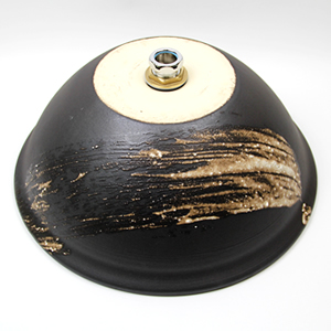 黒マットハケメ手洗い鉢【中型サイズ】信楽焼き手洗器!陶器の手水鉢[tr-3202]