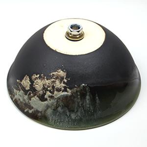 ビードロ窯変手洗い鉢【中型サイズ】信楽焼き手洗器!陶器の手水鉢[tr-3203]