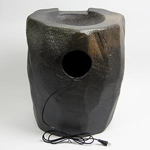 信楽焼き電動つくばい 湧き水ツクバイ水流れ 紫香楽[dt-0004]