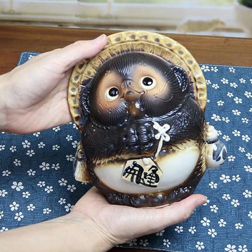 信楽焼きたぬき 5号お願い狸 陶器タヌキ[ta-0186]