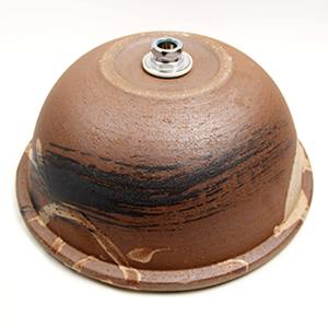 紅ハケメ手洗い鉢【大型サイズ】信楽焼き手洗器!陶器の洗面ボウル[tr-4042]