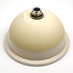 白マット手洗い鉢【埋め込みタイプ】信楽焼き手洗器!陶器の手水鉢[tm-1037]