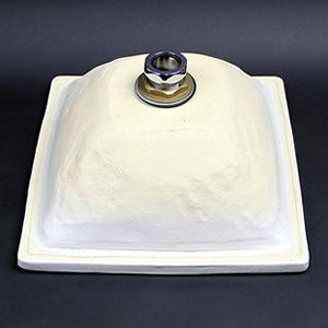 正角(白)手洗い鉢【埋め込みタイプ】信楽焼き手洗器!陶器の手水鉢[tm-1051]