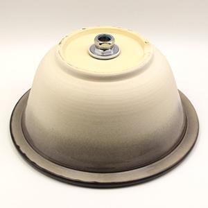 藤柄手洗い鉢【埋め込みタイプ】信楽焼き手洗器!陶器の手水鉢[tm-0015]