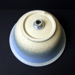 菖蒲柄彫り手洗い鉢【埋め込みタイプ】信楽焼き手洗器!陶器の手水鉢[tm-0016]