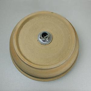 天目釜型手洗い鉢【埋め込みタイプ】信楽焼き手洗器!陶器の手水鉢[tm-0019]