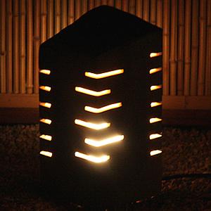 信楽焼きあかり あけぼの線光(大)庭園灯 あんどん 陶器灯り[ak-0070]
