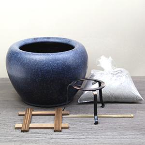 10号なまこ色火鉢 信楽焼ひばち[hi-0007]