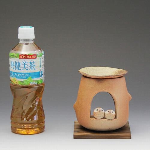 仲良しふくろう茶香炉 信楽焼き茶香炉[ty-0009]