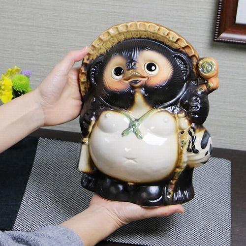 信楽焼きたぬき 9号福狸 陶器タヌキ[ta-0214]