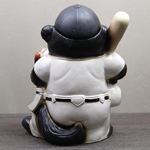 信楽焼きたぬき 野球狸(大) 陶器タヌキ[ta-0241]