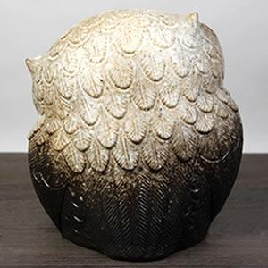 信楽焼きふくろう 9号首かしげふくろう(粉引き) 陶器フクロウ置物[fu-0138]