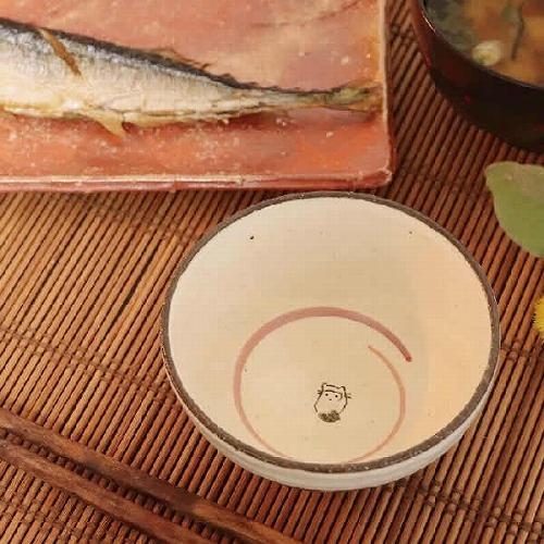 信楽焼 たぬき(青)飯碗 w310-14