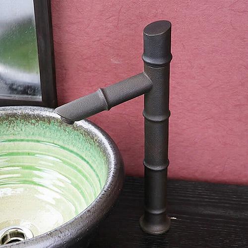 立ち水栓 単水栓 蛇口 立水栓 水栓金具 竹  [se-0028]